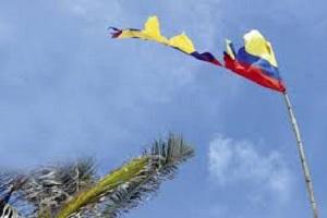 Bandera de Colombia Quebrada