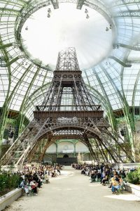 PARIS, FRANCE - JULY 04: A general view of Grand Palais with the Eiffel tower during the Chanel Haute Couture Fall/Winter 2017-2018 show as part of Haute Couture Paris Fashion Week on July 4, 2017 in Paris, France. (Photo by Victor Boyko/Getty Images)