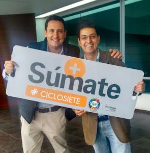 A la izquierda, Alejandro Zapata, creador de Ciclo Siete.