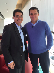 Con Carlos Raúl Yepes, ex presidente  de Bancolombia.
