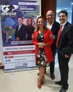 Paola Rueda, Alberto Ciurana y Juan Carlos Yepes
