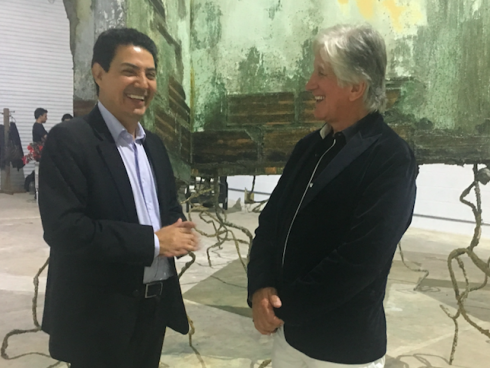 Con el científico Francisco Lopera