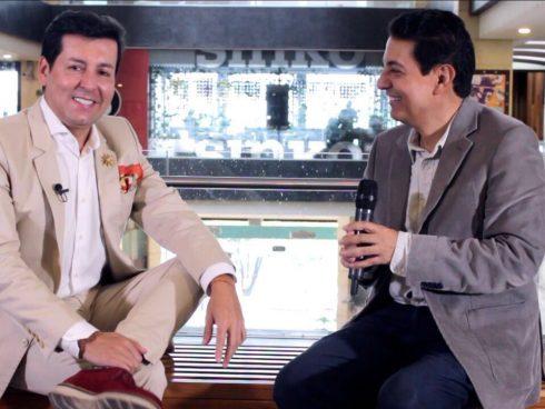 Con Juan Carlos Giraldo, experto en moda.