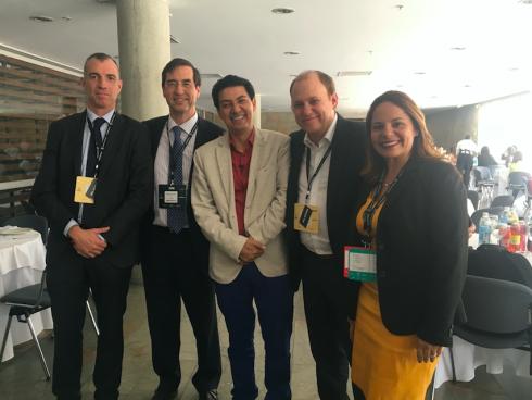 Con directivos de Wobi y Mario Alonso Puig