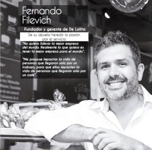 Este es Fernando Filevich, fundador de De Lolita.