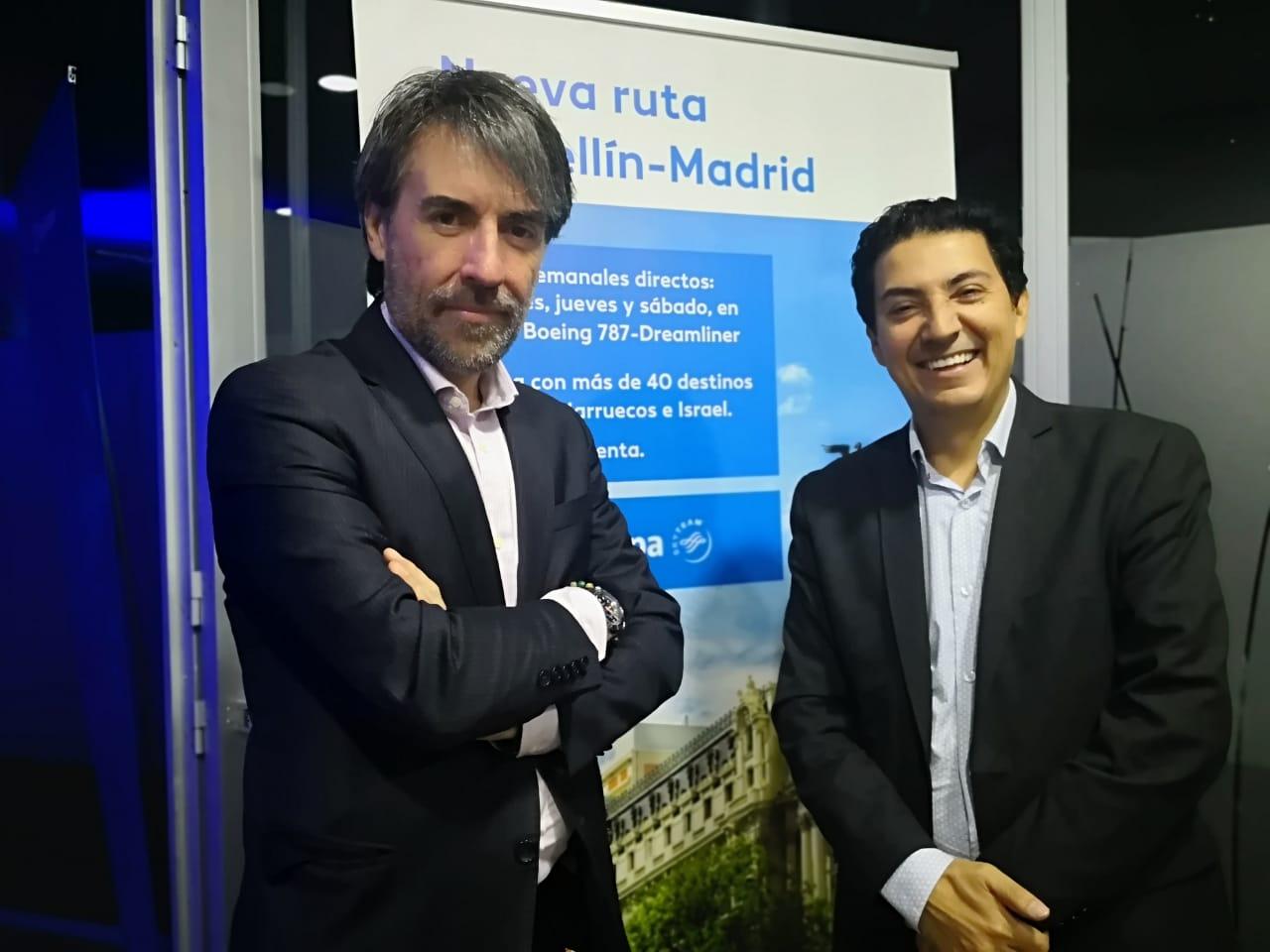 Con Alberto Cladera, gerente de Air Europa en Colombia