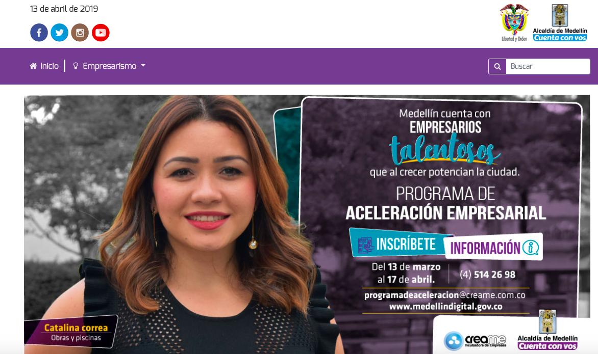 Medellín creó este portal para sus emprendedores
