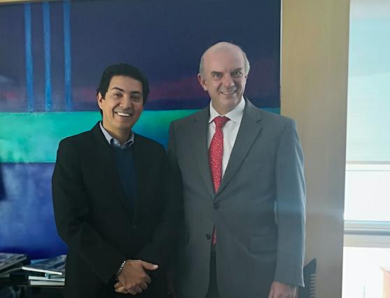 Con Sergio Gutiérrez, de Informese