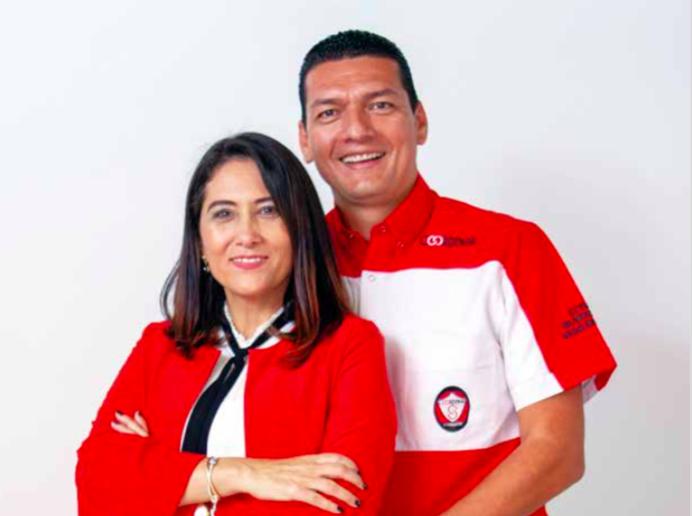 Dairo Rodríguez y su esposa Sandra Patricia Acevedo, fundadores de Coordinar Seguridad.