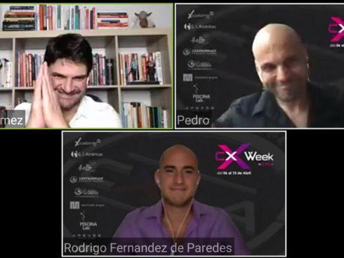 Imagen de una de las teleconferencias de la CX Week