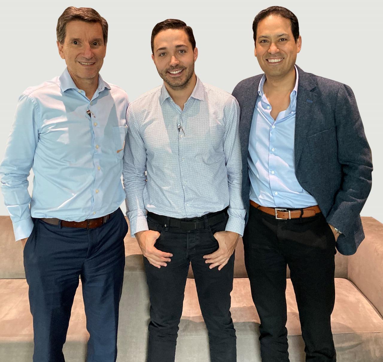 Juan Luis Aristizábal CEO Conconcreto; Juan Camilo Botero CEO Glasst Innovation Company; Juan Carlos Moreno CEO Pintuco
