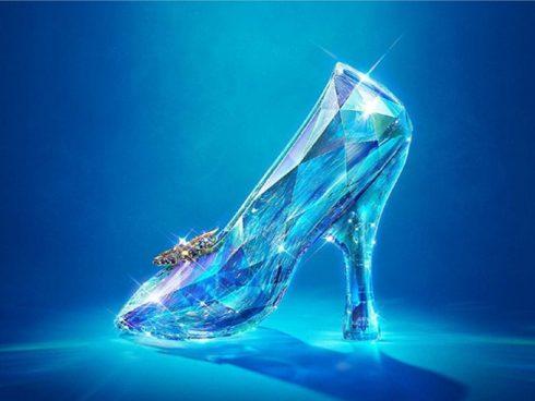 Zapatilla de cristal