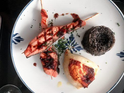 Uno de los platos del restaurante La Marisquería. Foto: Honoria Montes.