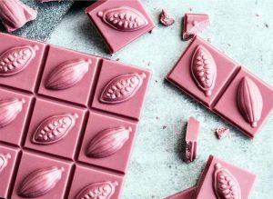 Ruby, el chocolate rosa que desde el 2018 revoluciona los mercados de Asia y Europa. Foto: Barry Callebaut/Bakary.