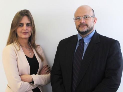María Eugenia Hermelo, gerente regional de IBM y Hernando Abisambra, gerente de Cognitiva Colombia.