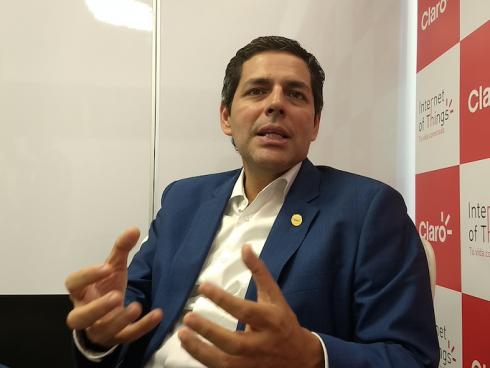 Carlos Zenteno, Presidente de Claro Colombia. (Foto Orlando Gomez Camacho).