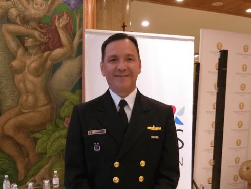 Contraalmirante Jorge Iván Gómez, Gerente General Hotel Tequendama. (Foto Orlando Gómez Camacho).