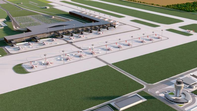 Render del nuevo aeropuerto de Cartagena, ubicado en Bayunca (Foto: ANI)