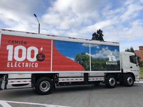 Camión eléctrico de Bavaria (Foto: Bavaria).