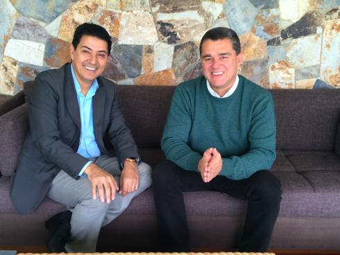 Con Carlos Raúl Yepes