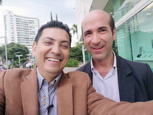 La selfie con Pedro Medina.