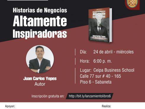 Invitación al evento Libro Historias Inspiradoras