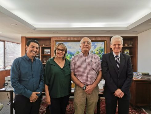 Con Alfredo Hoyos y directivos de Fenalco Valle del Cauca