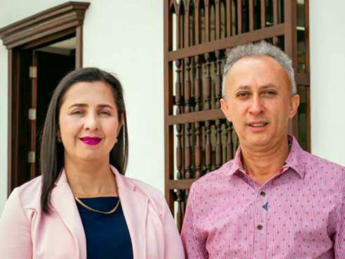 Lucelly Jaramillo Jaramillo y Luis Norberto Rodríguez Londoño, directivos de Cooabejorral