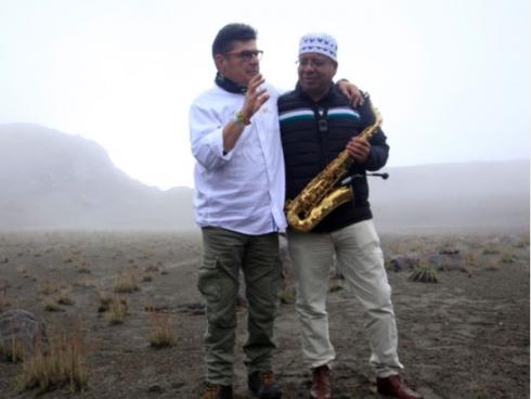 Concierto organizado por Cabeto en el Nevado del Ruiz