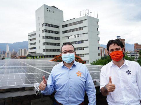 Carlos Mario Estrada, director Nacional del Sena, y Juan Felipe Rendón, director en Antioquia