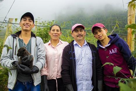 La familia Soler, agricultores de Pasca.