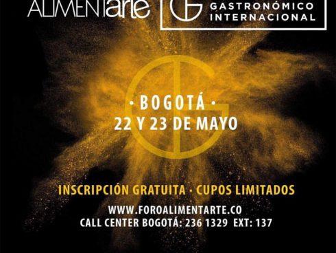 La imagen del Foro Gastronómico Internacional que se llevará a cabo el 22 y 23 de mayo en Bogotá.