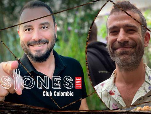 Tulio Zuloaga y el chef David Orozco, anfitriones de Sesiones Club Colombia. Foto: archivo particular