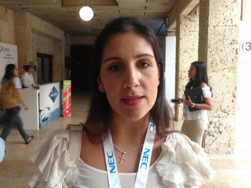 María Paula Romero Cortés, Gerente de Ventas de Canal para el Cono Norte de Unify. (Foto Orlando Gomez Camacho).