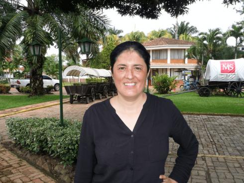 Lyda León Camacho, gerente, Hotel MS Campestre La Potra (Foto Orlando Gómez Camacho).