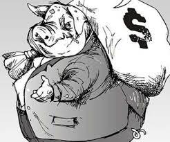 Cerdo, saco de dinero